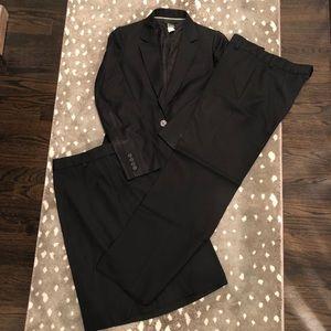 Black lightweight wool suit